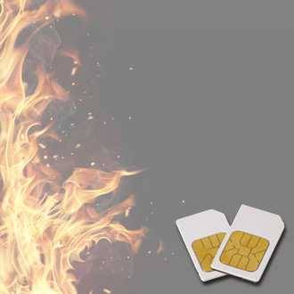 Chipcard FEUER-SUPPORT for Zapper Diamond Shield after Hulda Clark