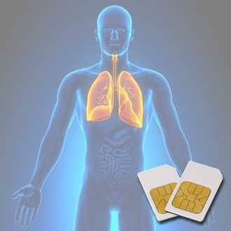 Chipcard LUNG-BRONCHI for Zapper Biowave according to Hulda Clark