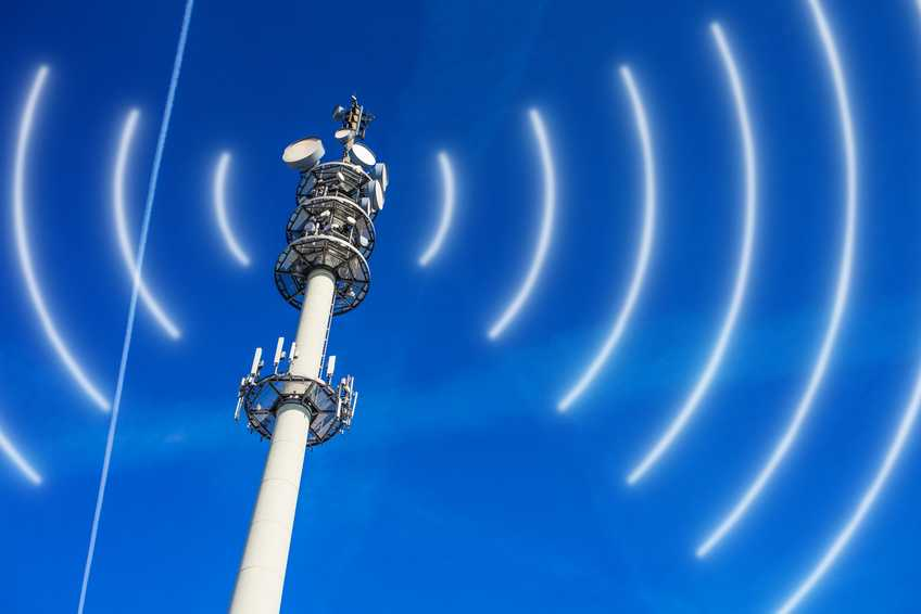 Mobile phone mast radiates frequencies