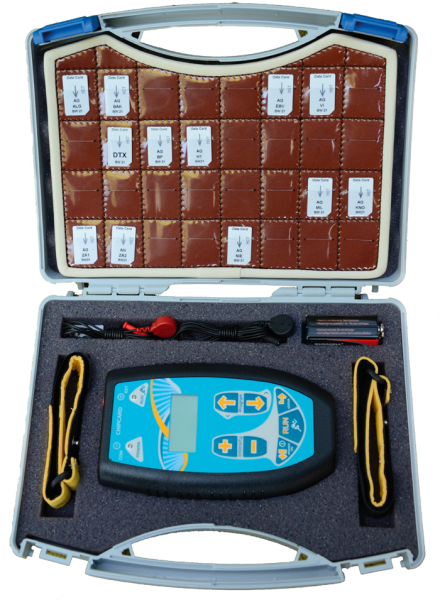 Preview: Leather storage for 32 frequency chipcards with zapper case