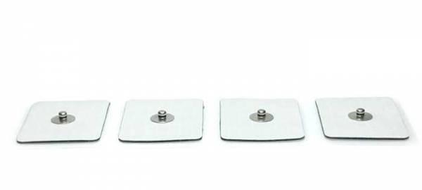 Paar kleine Klebe-Elektroden für Zapper und Frequenzgenerator