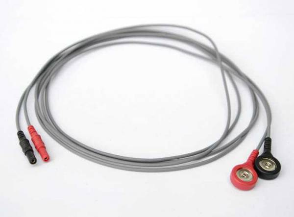 A pair of cables for zapper Biowave according to Hulda Clark