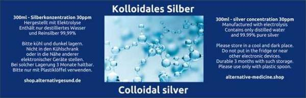 Preview: Colloidal Silver from Electrolysis - Label German and English