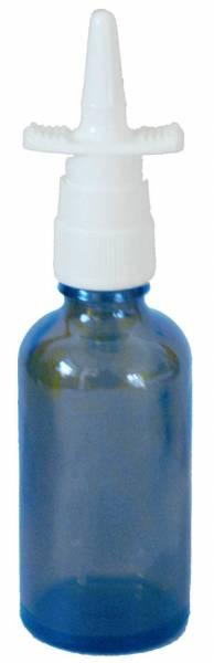 Nasal spray bottle blue glass with spray attachment - 50ml