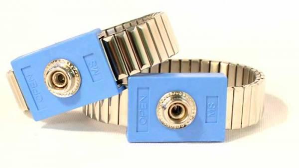 Pair of Metal Wrist Cuffs for Diamond Shield Zapper