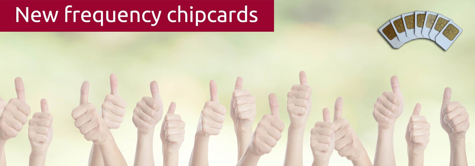 Thumbs high stand for the success of the new frequency chipcards for zappers Biowave and Diamond Shield