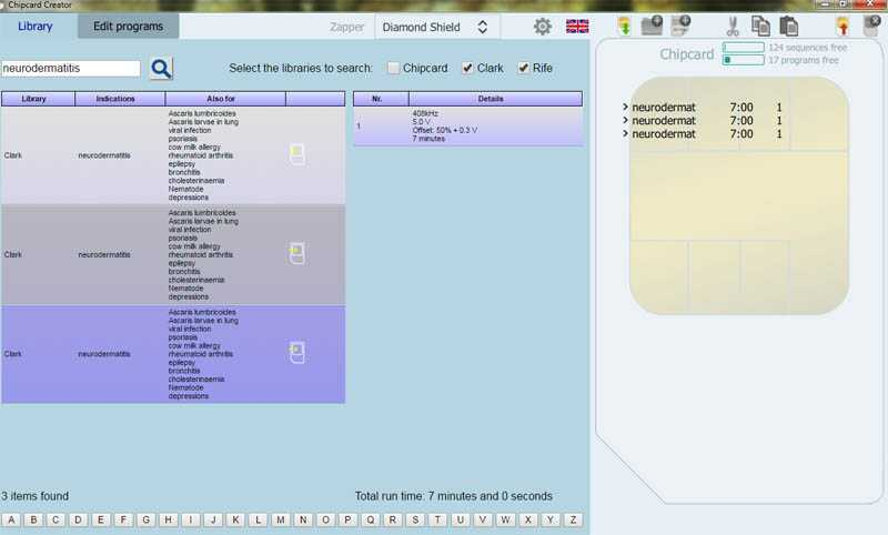 Screenshot of the software Chipcard Creator