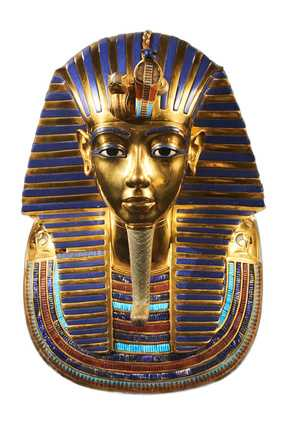 Golden Egyptian Pharaoh mask