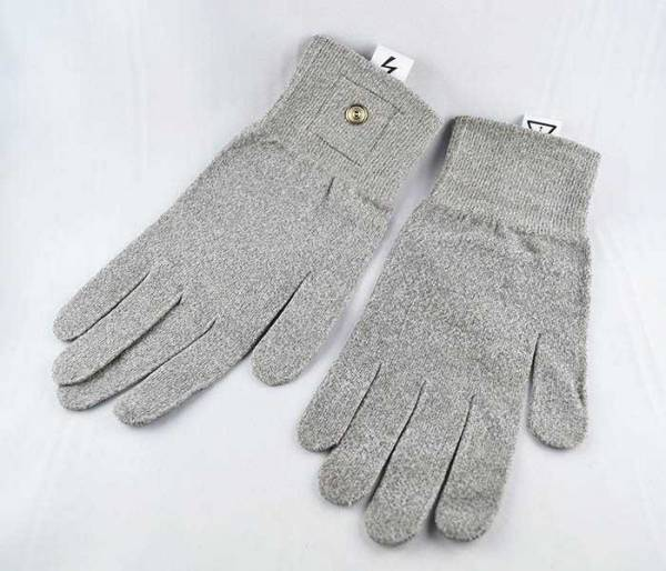 Metal gloves for electrostimulation, zapper, fine current